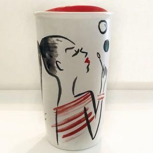 Starbucks blowing bubbles ceramic coffee mug 12 oz